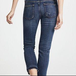 Current/Elliot Jeans Loved with Let Out Hem Capri